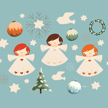 Vintage Christmas Angels by karin