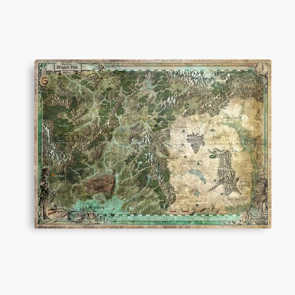 Dragon Pass and Surrounding Regions by Olivier Sanfilipo Metal Print