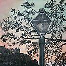street light antique art print by derekmccrea