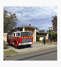 Wyong 505 Fire Station Photographic Print
