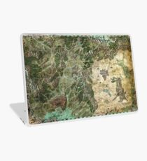 Dragon Pass and Surrounding Regions by Olivier Sanfilipo Laptop Skin