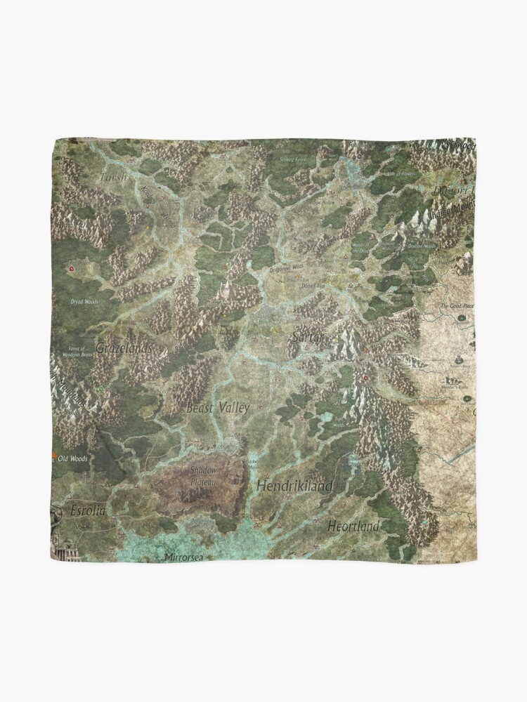 Alternate view of Dragon Pass and Surrounding Regions by Olivier Sanfilipo Scarf
