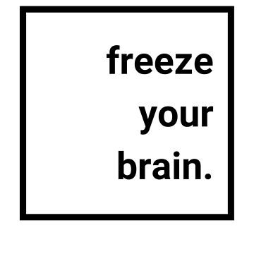 """Freeze Your Brain."" Heathers the Musical Minimalist by katyatsarina"