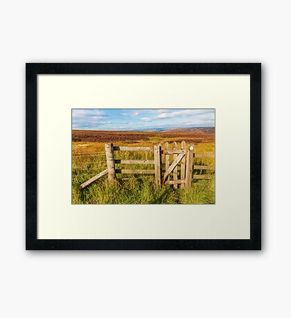 Derbyshire Peak District high moors in autumn Framed Print