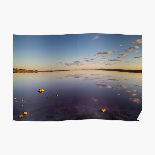 Sunrise over Pink Lake Poster