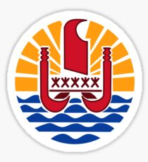 Coat of Arms of French Polynesia  Sticker