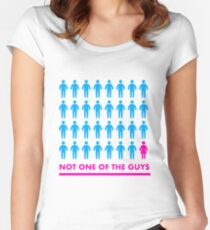 Not one of the guys Women's Fitted Scoop T-Shirt