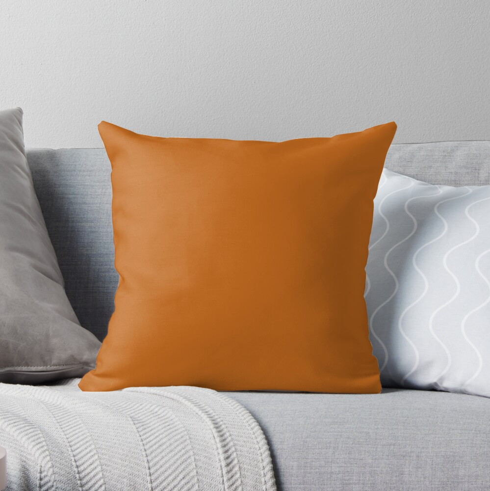 PLAIN SOLID ALLOY ORANGE-OVER 100 SHADES OF ORANGE ON OZCUSHIONS Throw Pillow