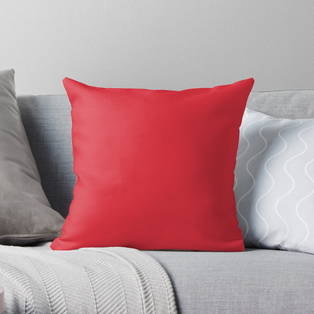 Beautiful Cushions/ Plain Alizarin crimson Throw Pillow