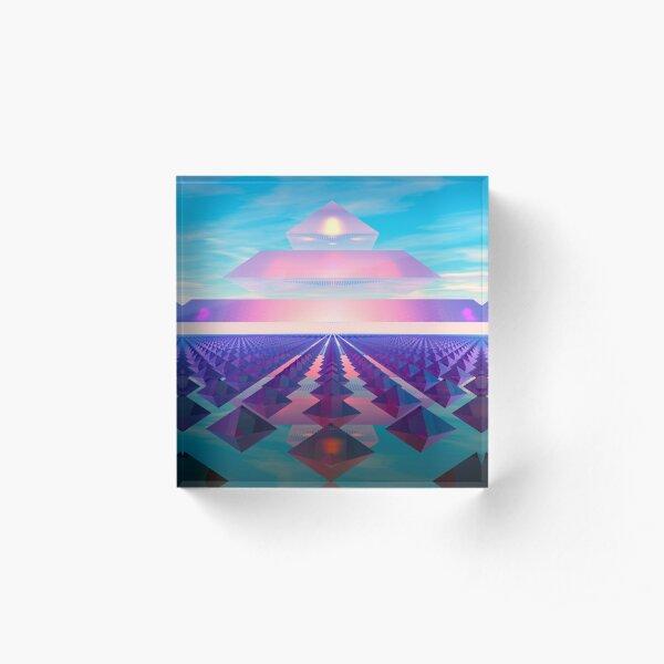 Pyramid Acrylic Block