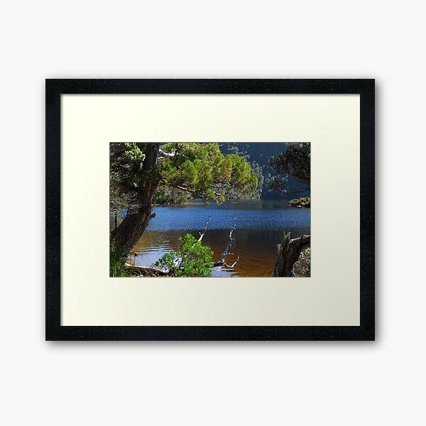 Nice light on Dove Lake Framed Art Print