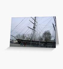The boat that burnt down ( THE CUTTY SARK ) Greeting Card
