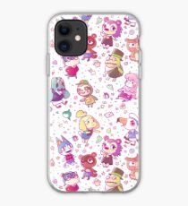Animal Crossing Pattern iPhone Case