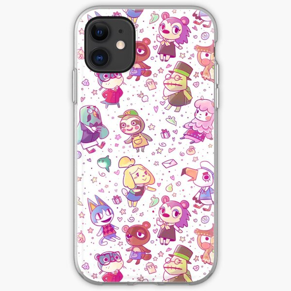Animal Crossing Pattern iPhone Soft Case