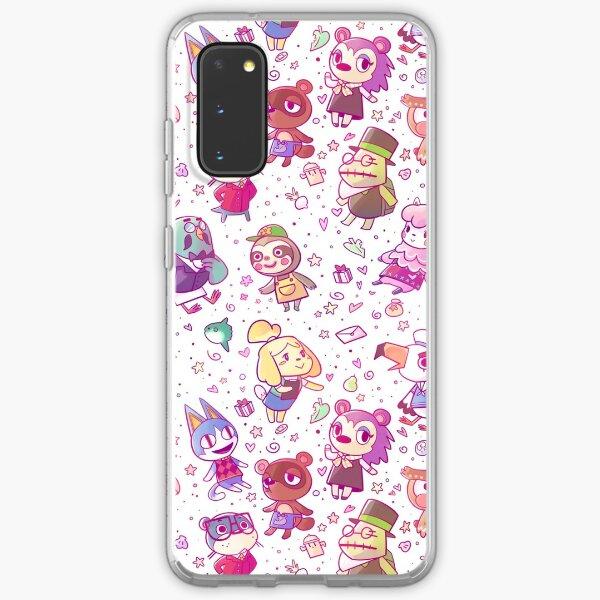 Animal Crossing Pattern Samsung Galaxy Soft Case