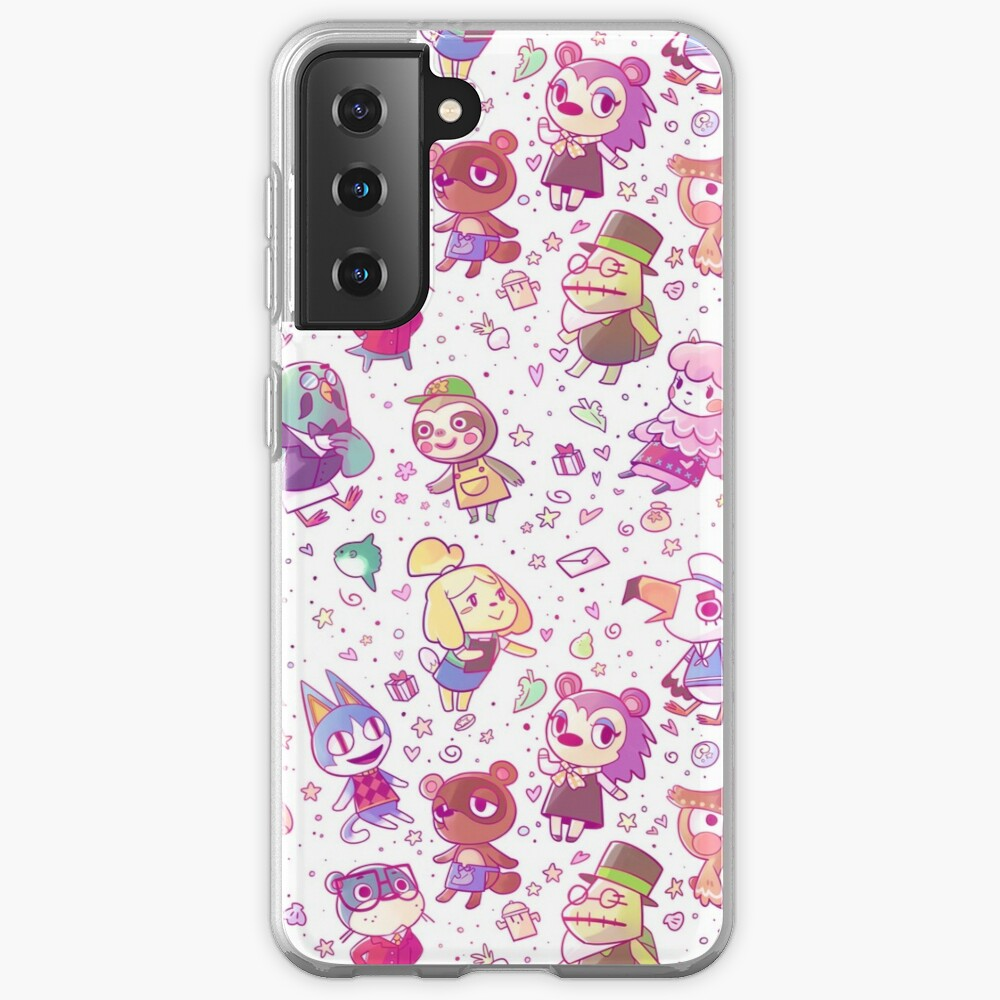 Animal Crossing Pattern Case & Skin for Samsung Galaxy
