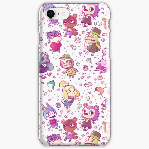 Animal Crossing Pattern iPhone Snap Case