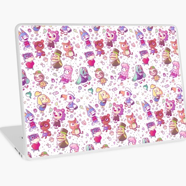 Animal Crossing Pattern Laptop Skin