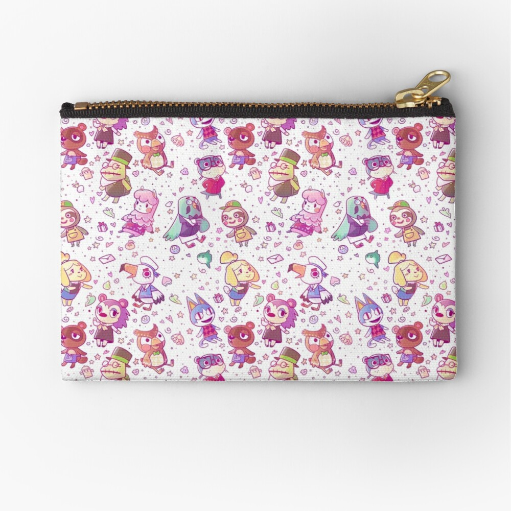 Animal Crossing Pattern Zipper Pouch
