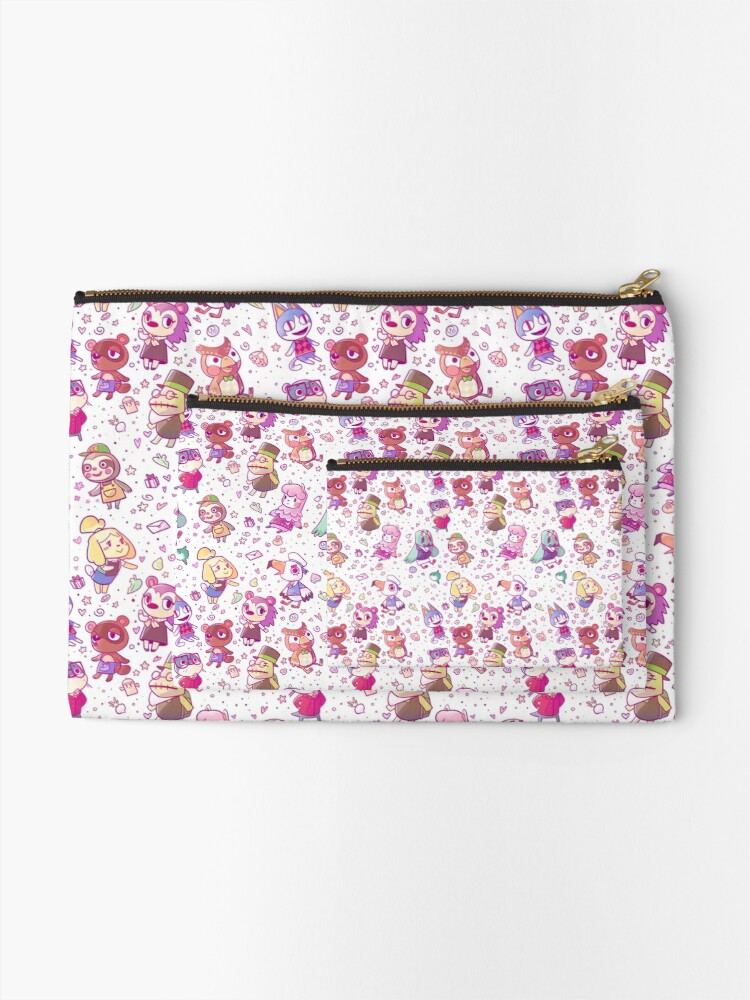 Alternate view of Animal Crossing Pattern Zipper Pouch