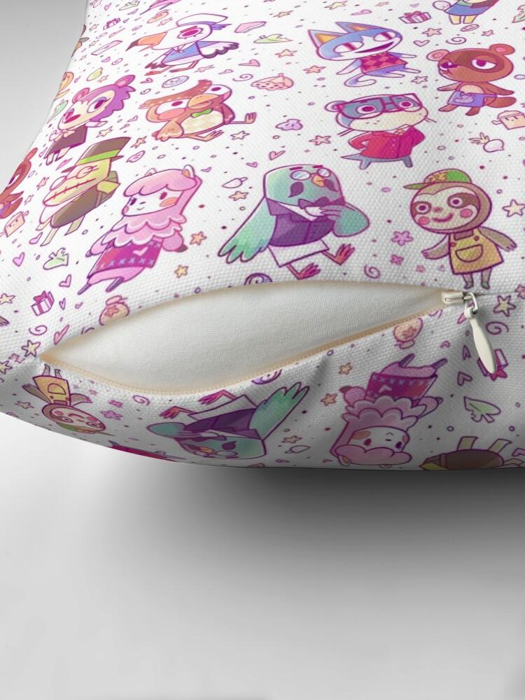 Alternate view of Animal Crossing Pattern Throw Pillow