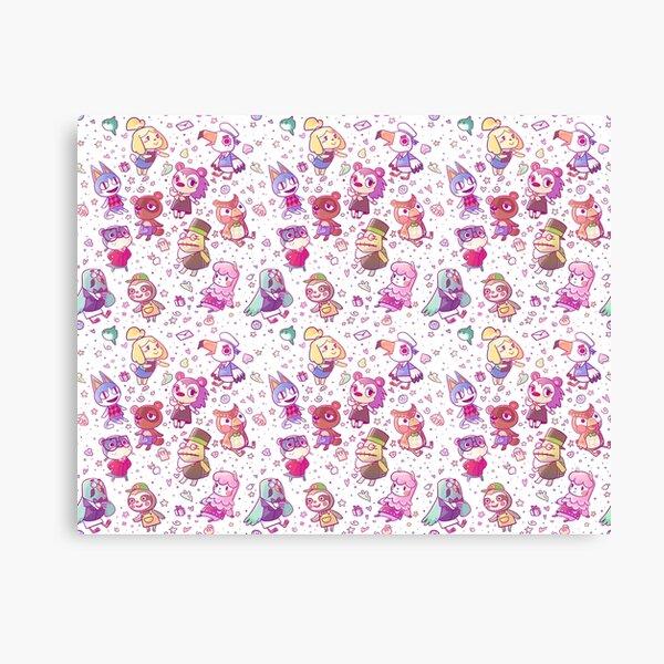 Animal Crossing Pattern Canvas Print