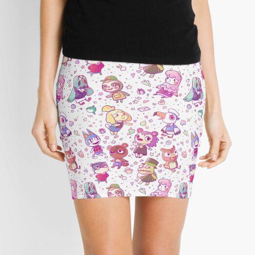 Animal Crossing Pattern Mini Skirt