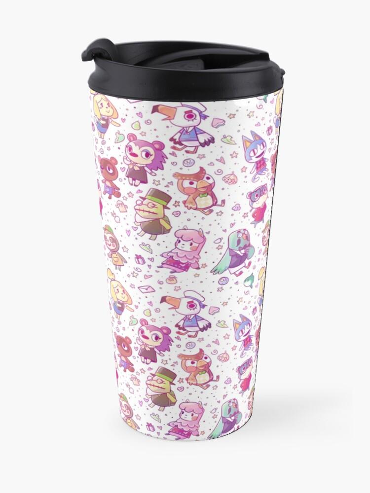 Alternate view of Animal Crossing Pattern Travel Mug