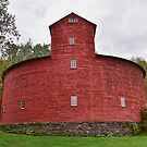 Historic Red Round Barn, Halcottsville, New York by Catherine Sherman