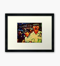 Really Pissed Off Cops Framed Print