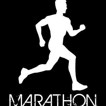 Silhouette of man running a marathon by MegaSitioDesign