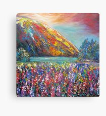 Mountain Lupins Canvas Print