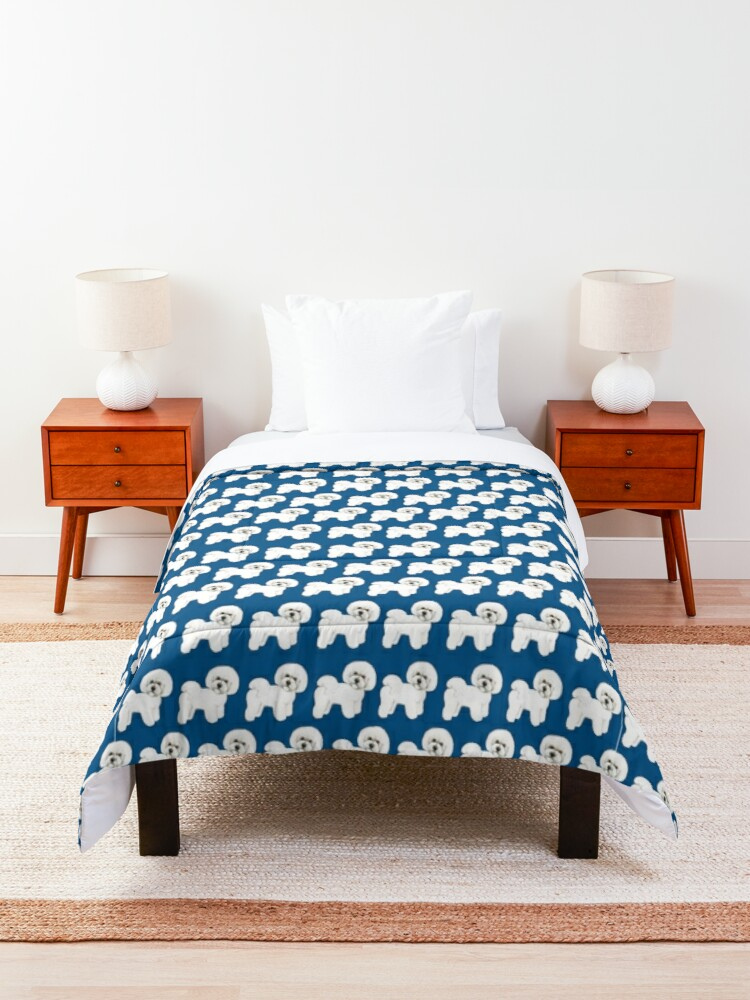 Alternate view of Bichon, best friend, loyal and fun! Comforter