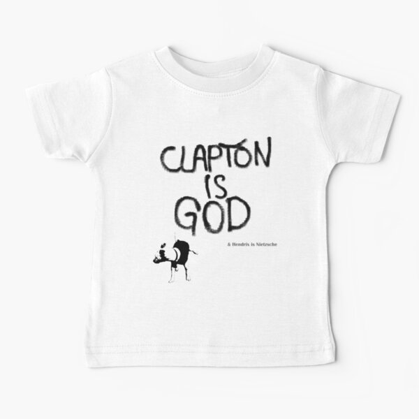 Eric Clapton: Clapton is God & Hendrix is ​​Nietzsche. Baby T-Shirt