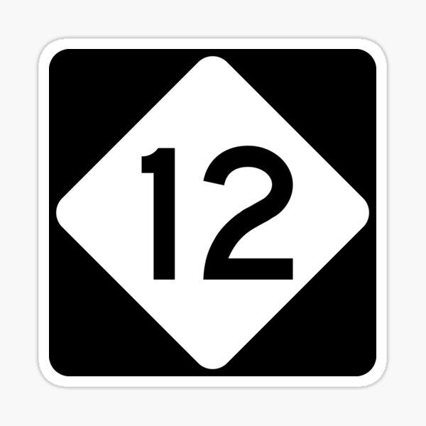 North Carolina Highway NC 12 | United States Highway Shield Sign Sticker