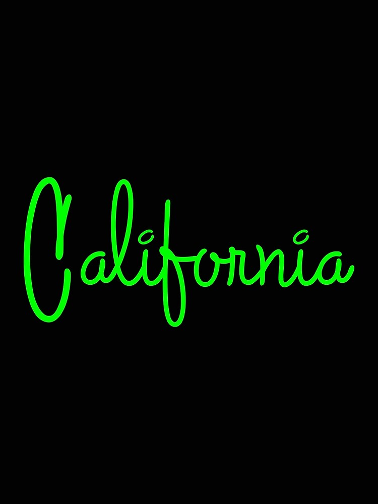 California Script No. 1 Electric Green by PEK1787
