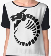 MonkeyBlood Design & Publishing Logo (Black) Tshirt Chiffon Top