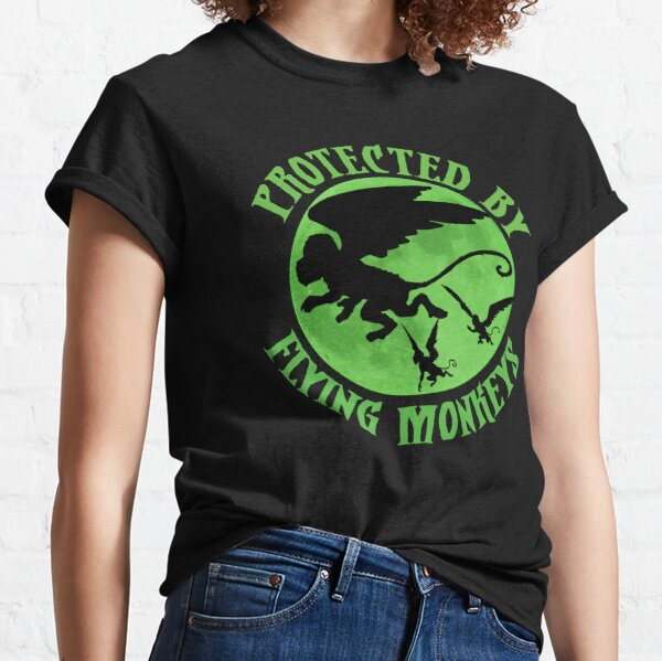 Flying Monkey Witch Gift Protected by Flying Monkeys Wizard of Oz Wicked Witch Halloween Costume Classic T-Shirt