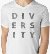 Customisable Unity in Diversity poster Men's V-Neck T-Shirt