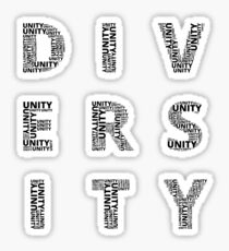 Customisable Unity in Diversity poster Sticker