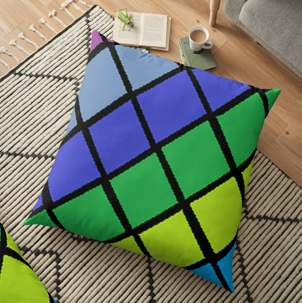 colour splash Floor Pillow