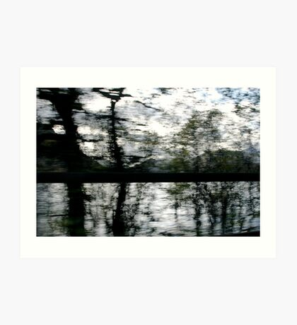 Reflected Blur Art Print