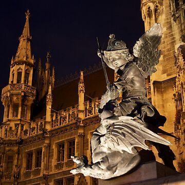 Angel Protecting Munich by JonoBoyd