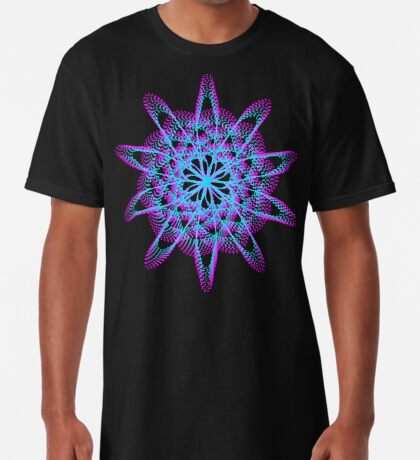 Spirograph with pink and blue Long T-Shirt