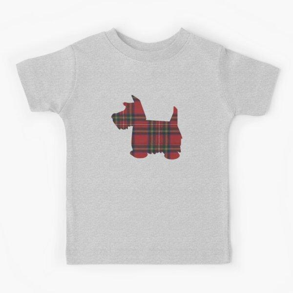 Royal Stewart Tartan Scottie Dog Kids T-Shirt