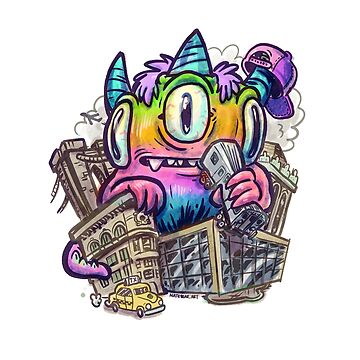 Rainbow City Kaiju Monster by nate-bear
