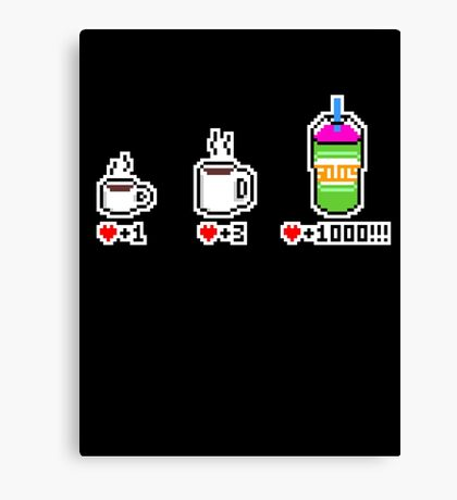 Squishee 8-bit Canvas Print