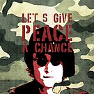Quote - Let's give peace a chance by Adarve  Photocollage