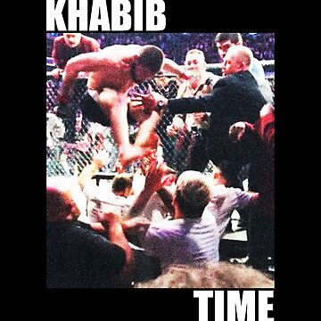 khabib jumping from the cage by queendeebs