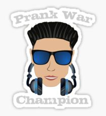 DJ Pauly D is the Prank War Champion Funny Jersey Shore Pauly D Sticker and Tees Sticker